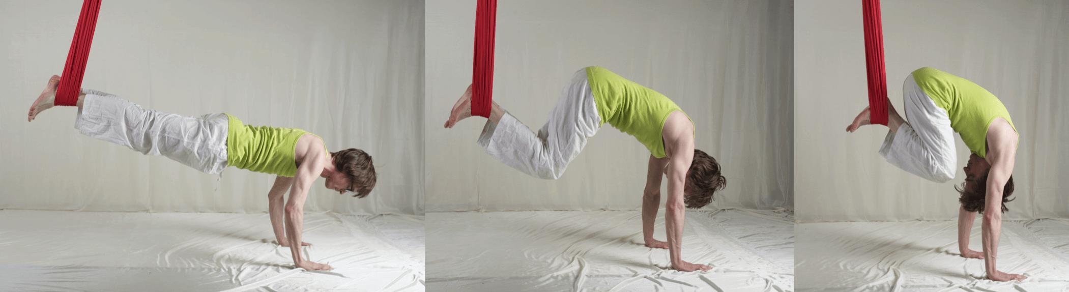 Aerial Yoga Tuch Bauchpresse