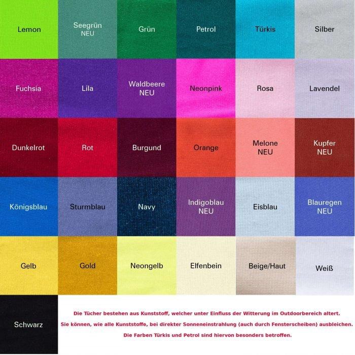 Aerial Yoga Tuch Farben