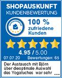 Aerial Yoga Shopauskunft Kundenbewertung 100% zufriedene Kunden